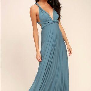 Lulu's Turquoise Multi Style Maxi Dress Size S